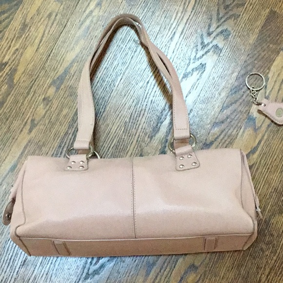 Blush Pink Shoulder Bag with compartments